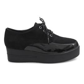 Crna Creepers za čizme na platformi MJ1358 crne boje