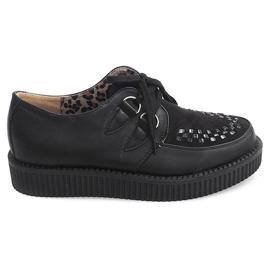 Crna Creepers čizme na platformi 061ss crne