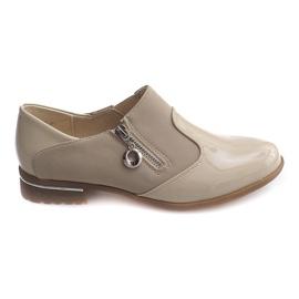 Smeđ Klasične klizne cipele 15312 Bež
