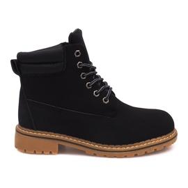 Crna Izolirane čizme od drveta H88B crne