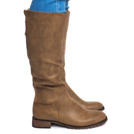 Zelena Čizme s visokom petom BL2830 Khaki