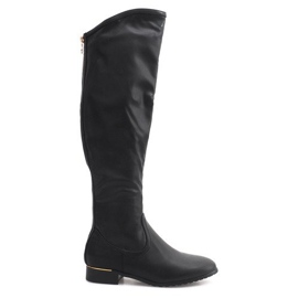 Crna Visoke vitke čizme A7898-38 crne