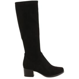 Crna Caprice 25506 crne rastezljive ženske čizme