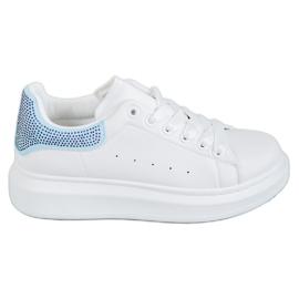 Yes Mile bijela Sportske cipele s kristalima