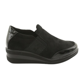 Crne cipele na klin Sergio Leone 225 crna