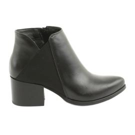 Crna Gamis 3815 kožne visoke potpetice