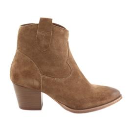 Anabelle 1466 kaubojske čizme od suknje od kamele smeđ