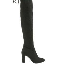 Crna Filippo 996 rastezljive čizme za koljena crne