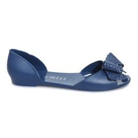 Mornarica Tamnoplave sandale od melise s lukom Delmar