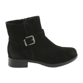 American Club Crne čizme od američkog kluba crne antilop SH04 crna