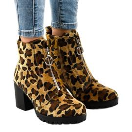 Leopard ženske čizme s patentnim zatvaračem A273