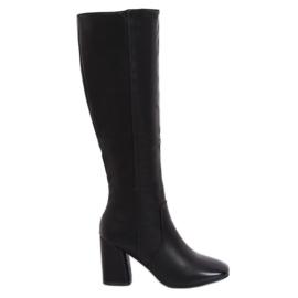 Crna klasična crna visoka potpetica 5319 Crna