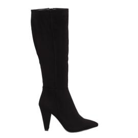 Crna crna visoke potpetice 8677 Crna
