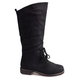 Crna Jazz visoke čizme 7-1GN016A crne