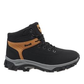 Crna Crne izolirane čizme za snijeg 299-1