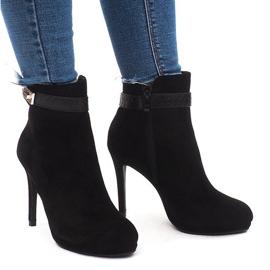 Crna Elegantne čizme za gležnjeve 1609-211 crne