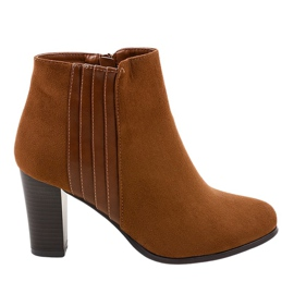 Ženske smeđe čizme od K93 suede