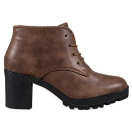 SHELOVET Čipkaste čizme na platformi od čipke