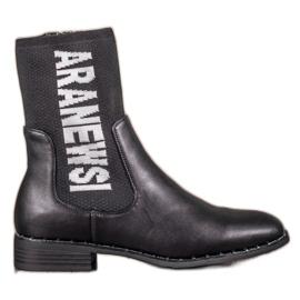VINCEZA visoke čizme crna