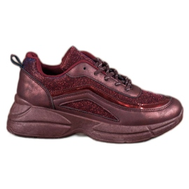 SHELOVET crvena Sjajne sportske cipele
