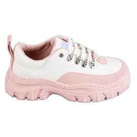 SHELOVET roze Laced Sportske cipele