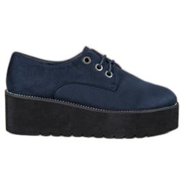 SHELOVET Suede cipele na platformi plava