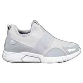 Ideal Shoes Slip-on modne tenisice siva