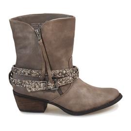 Siva Bež kaubojske čizme čizme NRW1745-277