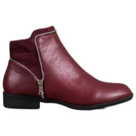 Anesia Paris crvena Burgundske ženske čizme