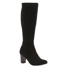 Caprice protežu ženske čizme crna