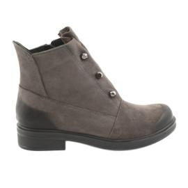 Badura Sivi gležnjači čizme rhinestones siva