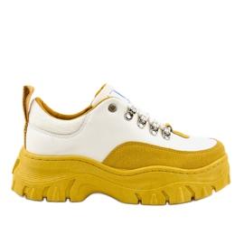 Bijela i žuta modna ženska sportska obuća PF5329