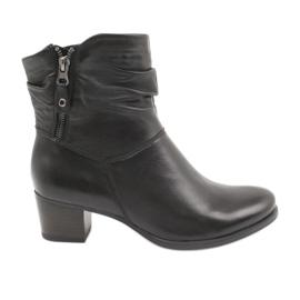 Crne čizme s patentnim zatvaračem Caprice 25347 crna