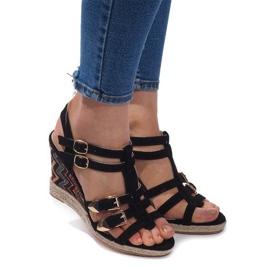 Crna Sandale s klinom 5H5671 crne