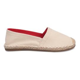 Espadrilles F169-6 Bež sandale smeđ