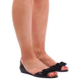 Crna Crne sandale Meliski KM01