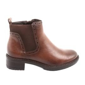 Čizme Jodhpur Čizme Zipper Filippo 957 smeđe