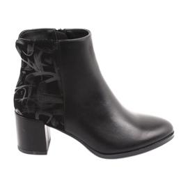 Modne čizme na crnoj boji Sergio Leone 521 crna