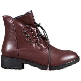 Groto Gogo Čizme s vezicom crvena