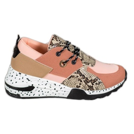 Tenisice Snake Print VICES roze