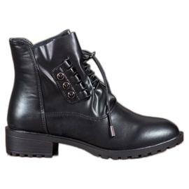 Groto Gogo Čizme s vezicom crna