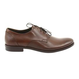 Kožne cipele Pilpol 1609 smeđe