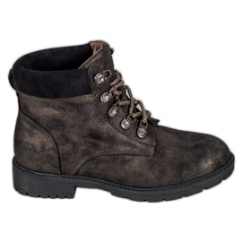 Čizme sa svjetlucavim VICES-om smeđ