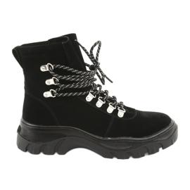 Vezene crne trapezne cipele Sergio Leone 729 crna