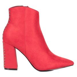 Seastar Seksi čizme sa rhinestones crvena