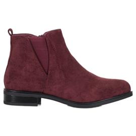 Ideal Shoes Klizne čizme crvena