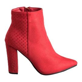 Seastar Suede čizme s kubičnim cirkonijem crvena
