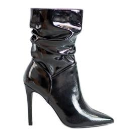 Seastar Lakirane čizme za gležnjeve crna