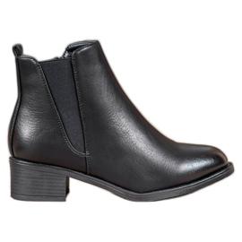 Ideal Shoes Klasične čizme s elastičnim trakom crna
