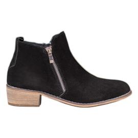 Goodin Kožne čizme s klizačem crna